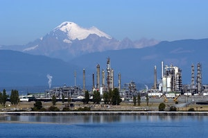 Mt. Baker and Anacortes refineries in forefront