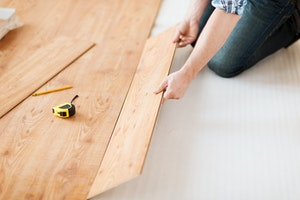 Replacing flooring with wood planks